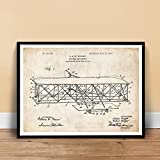 WRIGHT FLYER Airplane Patent Print Brothers Flying Machine Unframed (5