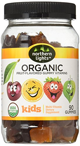 Northern Lights Kid's Organic Complete Gummy Multivitamins, 90 Count (30 Day Supply) (Kids Organic Vitamins)