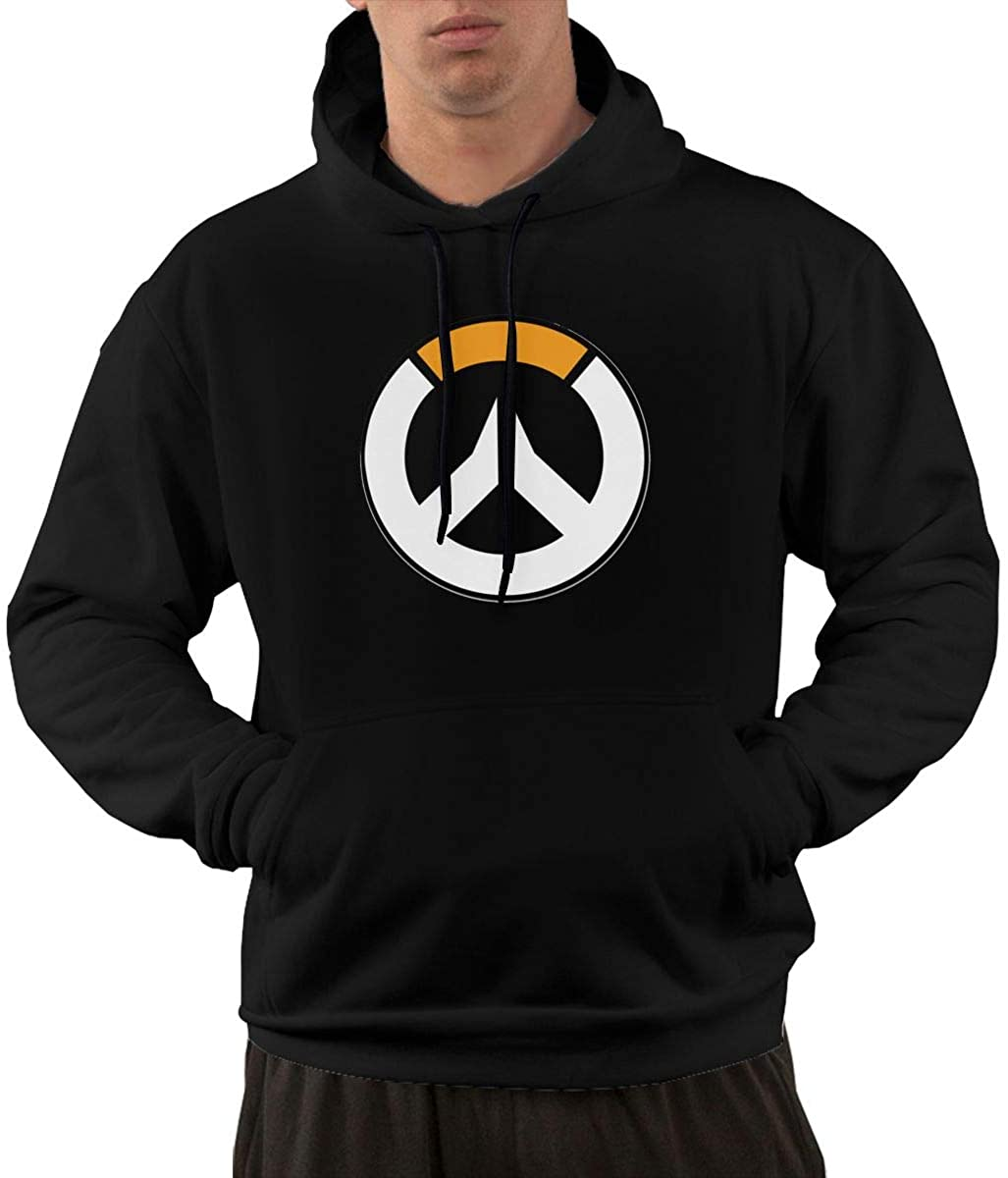 wadvsngdan Sdfcvxkhl Ove-Rwa-Tch Polyester Cotton Fabric Mens Hoodie Handsome and Comfortable Black