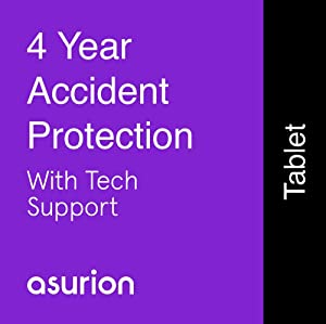 ASURION 4 Year Tablet Accident Protection Plan with Tech Support $350-399.99