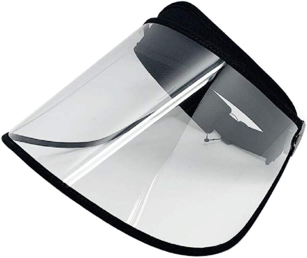 SDBRKYH Transparente de protección Careta, Protector Facial Protección Cap Parasol Resistente a los arañazos Total Cubierta Protectora Exterior Personal de protección Sombrero