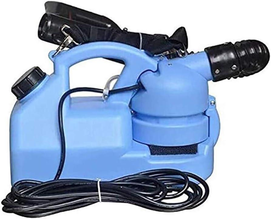 YLJXXY 7L Máquina de La Niebla ULV Eléctrica Pulverizador, 220V Pulverizador Portátil con Boquilla Ajustable, para La Basura Patio Almacén Muelle De La Estación Aeropuerto