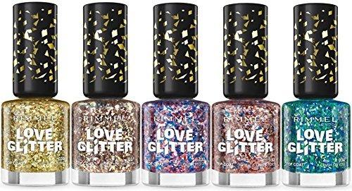 Rimmel Love Glitter Nail Polish 5 pcs