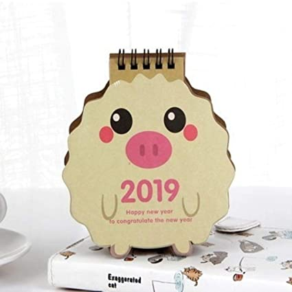 Amazon.com : 2019 Kawaii Animals Cartoon Pig Mini Desktop ...