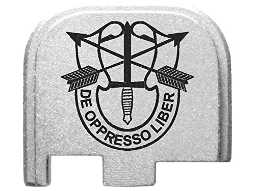Special Forces 5th Group Crest Silver Rear Slide Cover Pl...