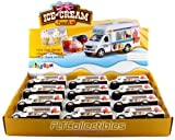 pull back ice cream truck - 12 pcs in Box: 5 Die Cast Ice-Cream Truck, Pull Back Action (White) by KinsFun