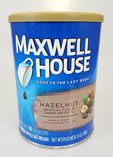 Maxwell House Ground Coffee 2, 11oz Canisters (Hazelnut) -