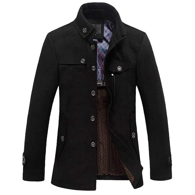 Cappotto casual da uomo d'affari Sottile doppio petto medio lungo di alta qualità