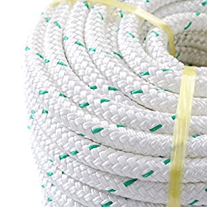 "3/7"" x 150' Double Braid Polyester Rope Sling 5900Lbs BREAKING STRENGTH"
