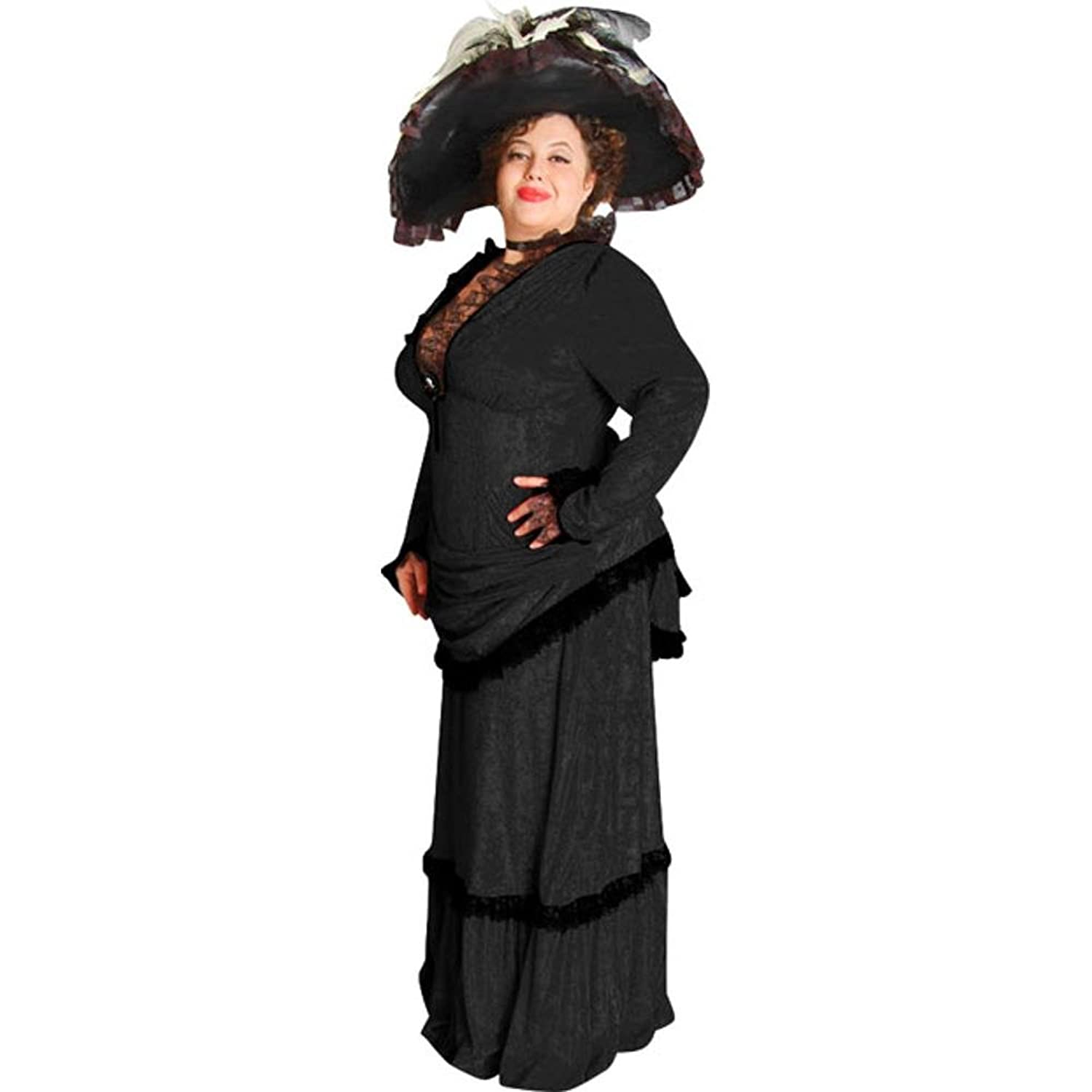 Victorian Costume Dresses & Skirts for Sale Womens Plus Size Victorian Black Theater Dress $259.99 AT vintagedancer.com
