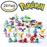Durotoy 24 Pokemon Action Figures with Pikachu Guarantee , 1