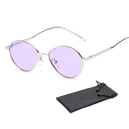 Pawaca Retro - Gafas de sol para adultos, pequeñas, redondas ...