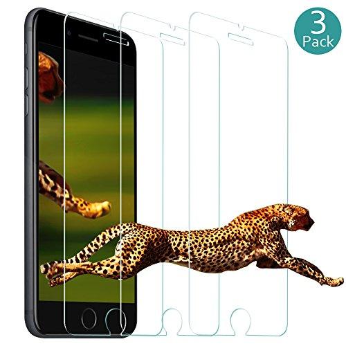 iPhone 8 Plus Screen Protector Glass Cloele 0.33MM Slim and 9H Hardness, Anti-Fingerprint, for Apple iPhone 8 Plus iPhone 7 Plus 6S Plus -(3Pack 5.5 inch)
