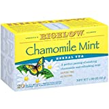 Bigelow Chamomile Mint Herbal Tea 20-Count Boxes (Pack of 6), 120 Tea Bags Total.  Caffeine-Free Individual Herbal Tisane Bags, for Hot Tea or Iced Tea, Drink Plain or Sweetened with Honey or Sugar
