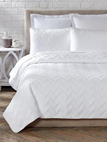 Cozy Line Home Fashions 3 Piece Chevron Cotton Quilt Set, Full/Queen