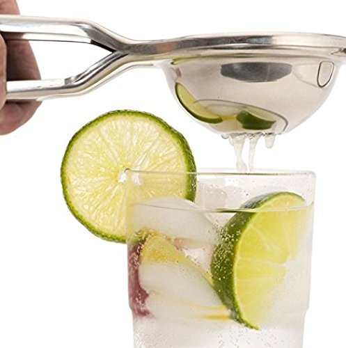 PriorityChef Citrus and Lemon Squeezer, 100% Stainless Steel, Extra Large, Makes Juicing Fun