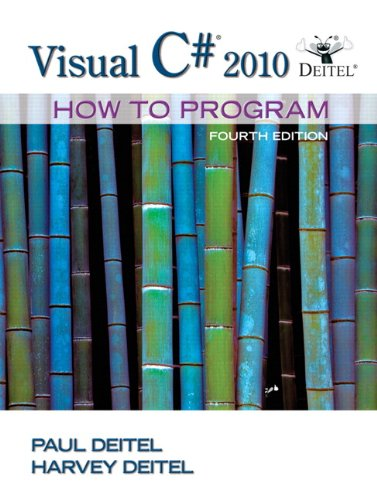 Visual C# 2010 How to Program (4th Edition)