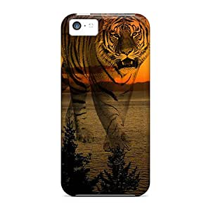 JosareTreegen Fashion Protective Sunset Tiger Cases Covers For Iphone 5c