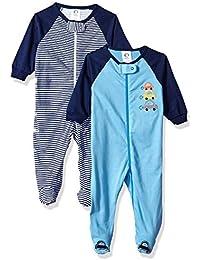 Baby Boys' 2 Pack Zip Front Sleep 'n Play