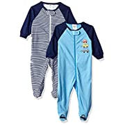 Gerber Baby Boys 2 Pack Zip Front Sleep 'n Play, Cars, 3-6 Months