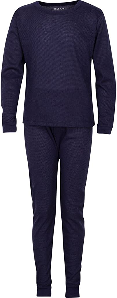 Waffle Knit Premium Boys Thermal Underwear Set Warm /& High Moisture Wicking
