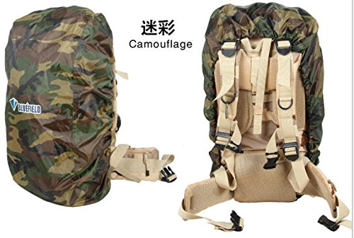 Backpack Rain Cover,FOME Nylon Backpack Rain Cover for Hiking / Camping / Traveling Camouflage(Size: L) + A FOME Gift Camouflage Cover