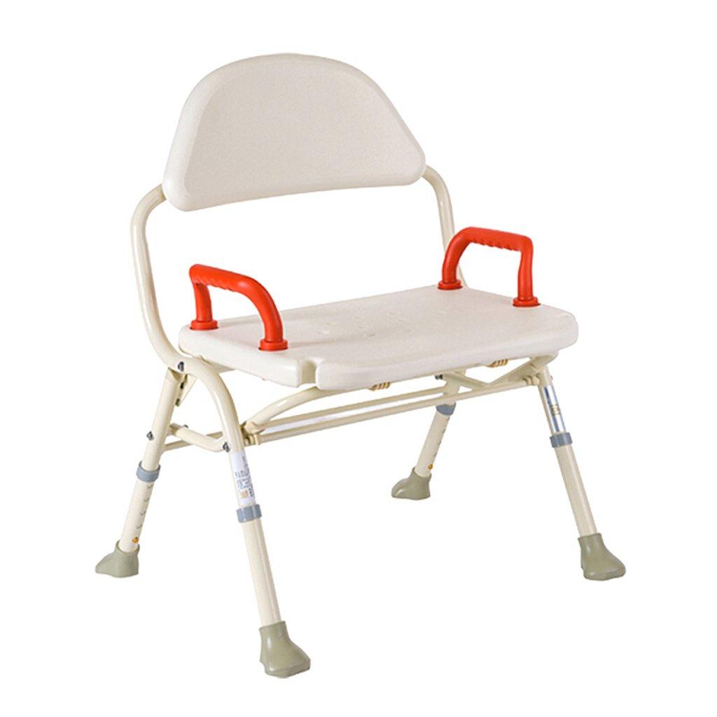 LXN デラックス高さ調節可能なアルミニウム製バス/シャワー付きの椅子(背もたれとシャワーヘッドホルダー付き) - 高齢者、妊婦、障害者に適用 B07D7MJGZQ