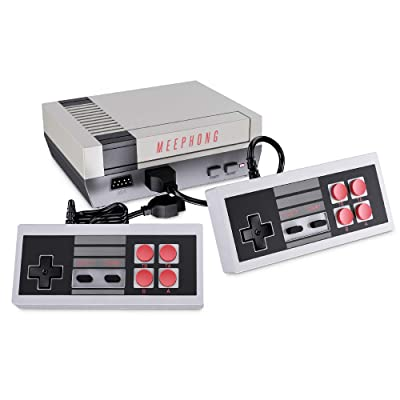 MEEPHONG Retro Game Console, AV Output NES Console Built-in Hundreds of Classic Video Games: Toys & Games