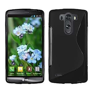 Funda de gel TPU S-Line para LG G3S Mini color negro + protector de pantalla