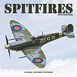 Airplane Calendar - Spitfires Calendar - Calendars 2018 - 2019 Wall Calendars - WWII Aircraft Calendar - Spitfires 16 Month Wall Calendar by Avonside