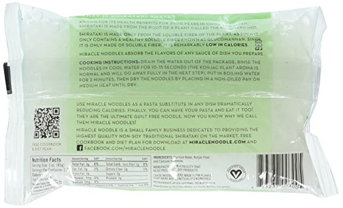 Miracle Noodle Angel Hair Pasta, 7 Ounce -- 6 per case. by Miracle Noodle (Image #1)