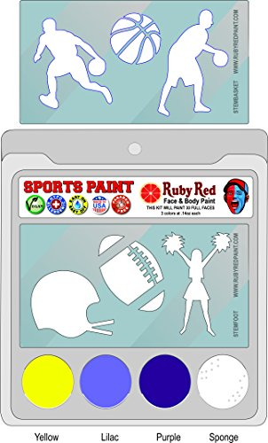 Ruby Red Paint Face Paint, 2ML X 3 Colors - College Sports Paint -