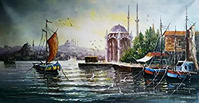 Istanbul_16 by Original Artist. Museum Quality Oil Painting. (Unframed and Unstretched).