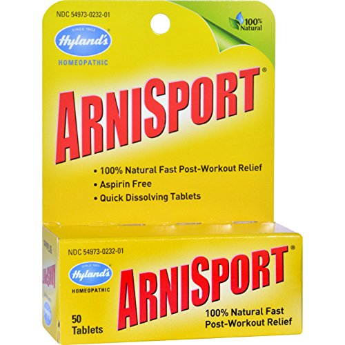 Arnisport 50 Tabs - Hylands Arnisport - Post Workout Pain Relief - Homeopathic - 50 Quick Dissolving Tablets (Pack of 2)