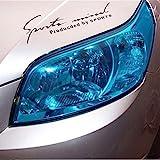 12 by 48 inches Self Adhesive Auto Car Tint Headlight Taillight Fog Light Vinyl Smoke Film Sheet Sticker Cover (blue)