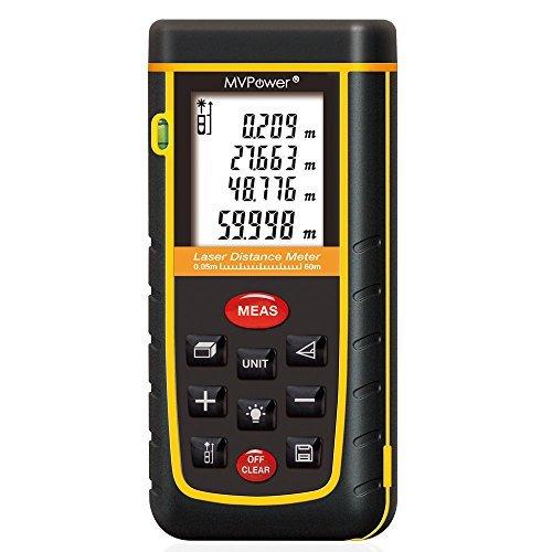 150 opinioni per MVPower- RZ-A60 Telemetro Misuratore di Distanza Misura Metro Palmare Laser-