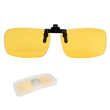 2f493c9e7be yodo Night Vision Polarized Flip up Clip on Sunglasses Over Prescription  Glasses for Men Women Driving
