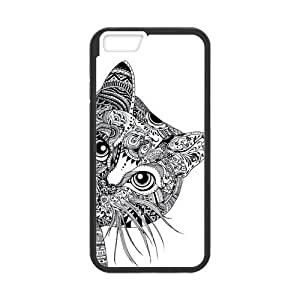 Canting_Good Black and White Aztec Cat Custom Case Skin for HTC One M8 (Laser Technology)