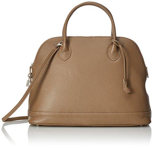 fabriqué sac Italie Cm femme CTM italien main cuir véritable à en Élégant la Fango de 40x30x15 molle dans Gris HH6x7aw