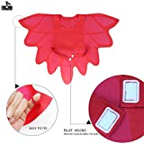 iROLEWIN Little Girl Wing Cape Mask – Dressing Up Costumes for Kids Party Gift-Red 51 jy6NW8uL