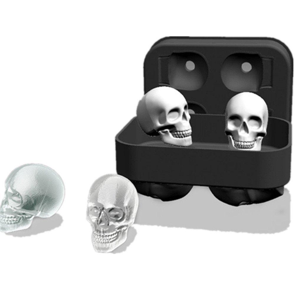 Amazon.com: Silicone Skull Ice Molds Ice Cube Maker Whiskey ...