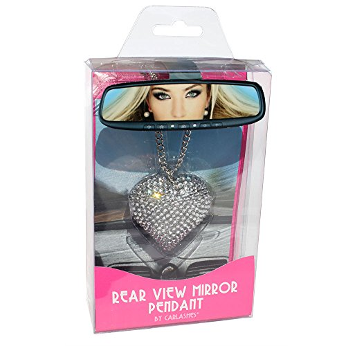 Bling Bling Heart (Carlashes 1201HE Clear Rear View Mirror Pendant Heart)