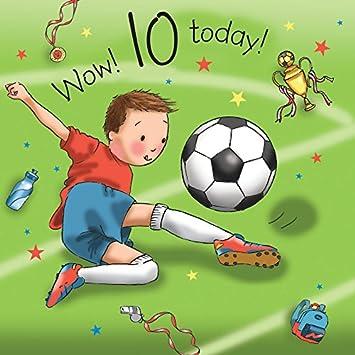 Twizler 10th Birthday Card For Boy With Footballer