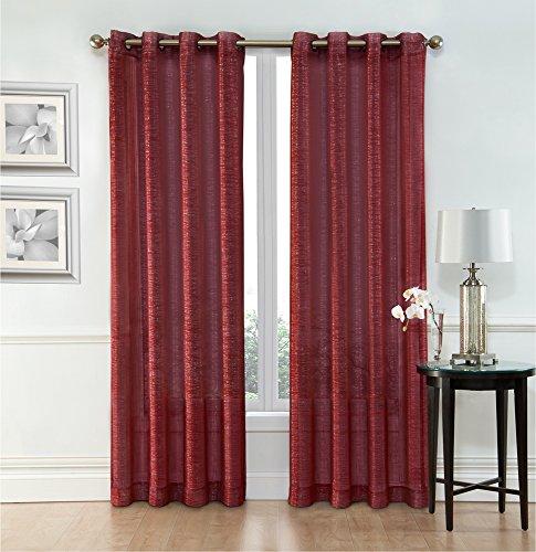 2 Piece Sheer Window Curtain Grommet Panels 54IN X 84 IN. L ( 137 CM X 213 CM )