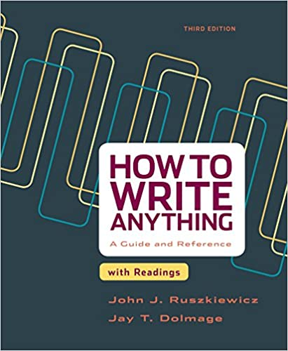 How To Write Anything With Readings A Guide And Reference