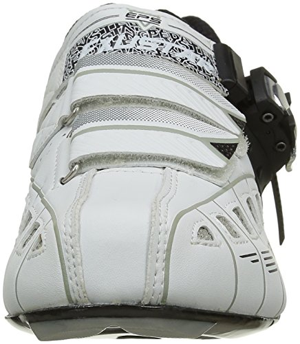 Exustar Cycling 71035 White Black Shoes Road Silver aUCaxqr4w