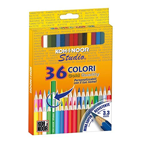 Koh-I-Noor Cf36Pastelli Colorati Gold Name DH3655G Matitecolorate