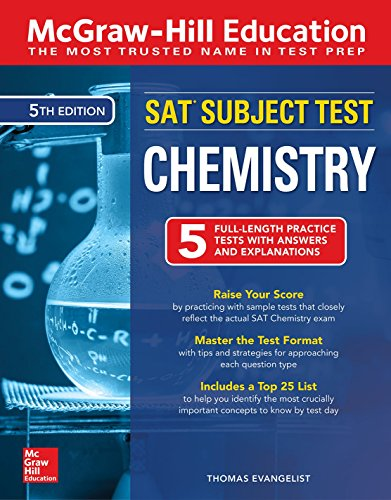 McGraw-Hill Education SAT Subject Test Chemistry, Fifth Edition Front Cover