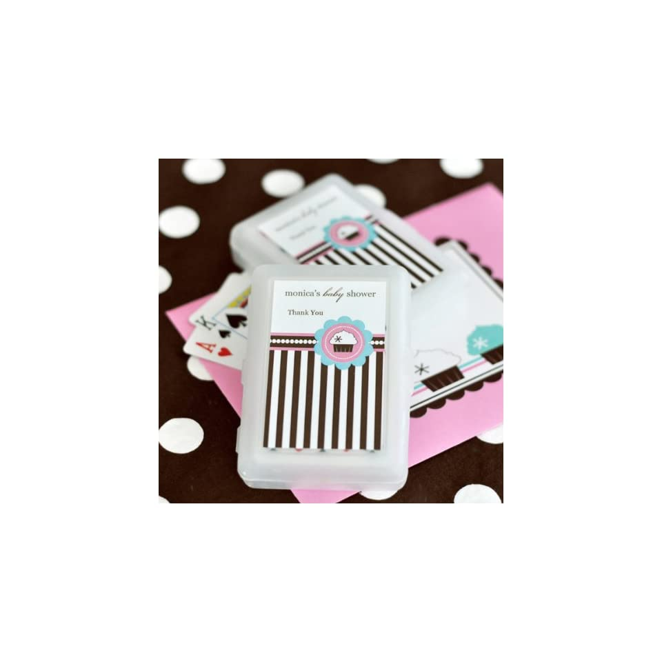 100PC EB2033CK Personalized Playing Cards Cupcake Party Wedding Baby Shower Favo