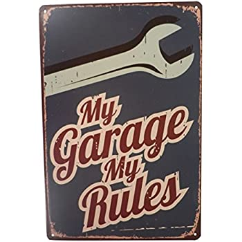 Mechanic Garage Rules Funny Tin Sign Bar Pub Diner Cafe Home Wall Decor  Home Decor Art Poster Retro Vintage